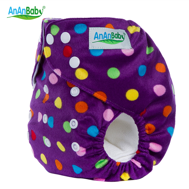 Ananbaby Baby Nappies Couche Lavable Many Colors Available Cloth Diaper One Size Adjustable Reusable Baby Washable Diapers HA012
