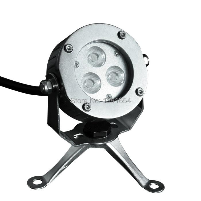 Alta calidad 100% IP68 316 acero inoxidable 9W RGB LED de luz subacuática para fuente con trípode LED 4PCS / lot