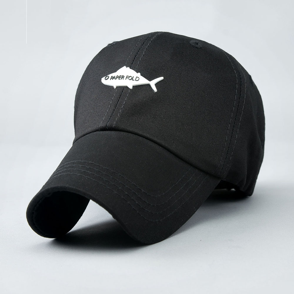 ee554c9856d 3 Colors Cotton Men s Baseball Cap Summer Dress Customized Fish Design Back  Letter Embroidery Curved Brim Hat Fashion Woemn -in Baseball Caps from  Men s ...