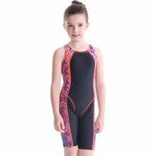 Узорчатый Сноркелинг костюм для серфинга детский цельный плавательный костюм пляжная одежда детский закрытый купальник для девочек