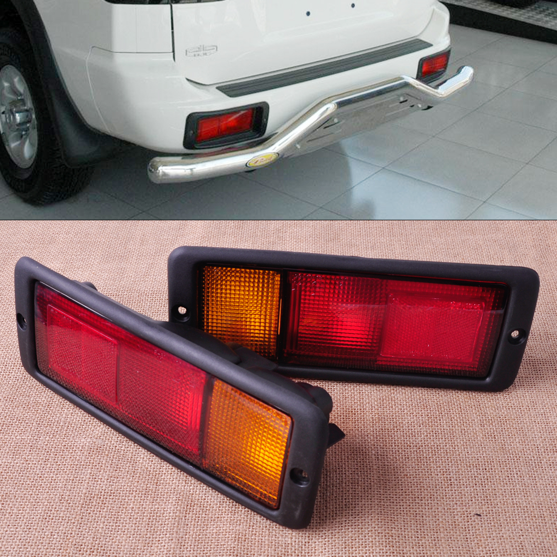 CITALL MB124963 MB124964 2pcs Rear Tail Light Lamp for Mitsubishi Pajero Montero 1992 1993 1994 1995 214-1946L-UE 214-1946R-UE newest car styling super bright led drl daytime running light fog lamp cover with turn signal for hyundai elantra 2016 2017