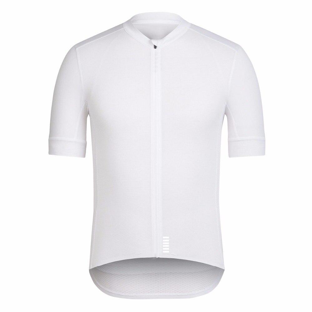 Prix pour SPEXCEL 2017 Tout Blanc Top Qualité À manches Courtes vélo jersey pro équipe course cut Léger pour L'été cool vélo Vêtements