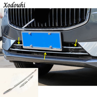 For Volvo XC60 2018 2019 Car Body Styling Cover Detector Trim Front Bottom Racing Grid Grill