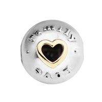 Original 925 Sterling Silver Bead Charm Family & Love Clip Beads Fit Pandora Bracelet Women Gift DIY Jewelry Kralen PERLES