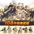 6 Pçs/lote Equipe Da SWAT Selva Soldados Building Block CS Equipamentos de Campo Do Exército Guerra Com Arma de Fogo Figuras Crianças Brinquedos de Inteligência