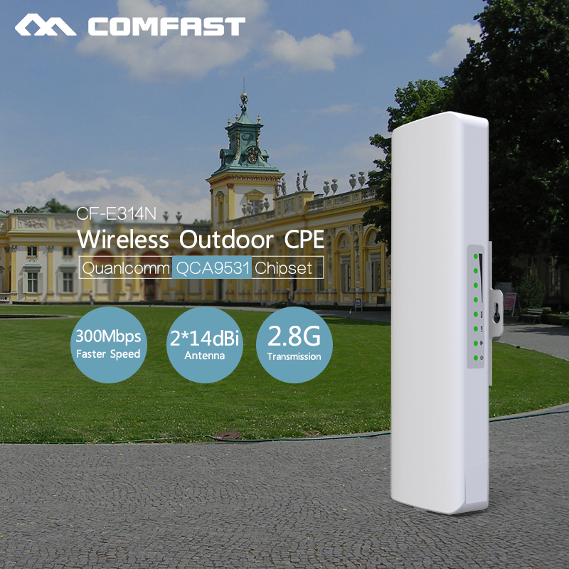 3-5KM Long Range Outdoor CPE WIFI 2.4GHz 300Mbps Wireless AP WIFI Repeater Access Point WIFI Extender Bridge Client WIFI Router comfast original indoor ap wi fi repeater 1200mbps wireless n router 2 4 5 8g wifi repeater bridge long range extender booster