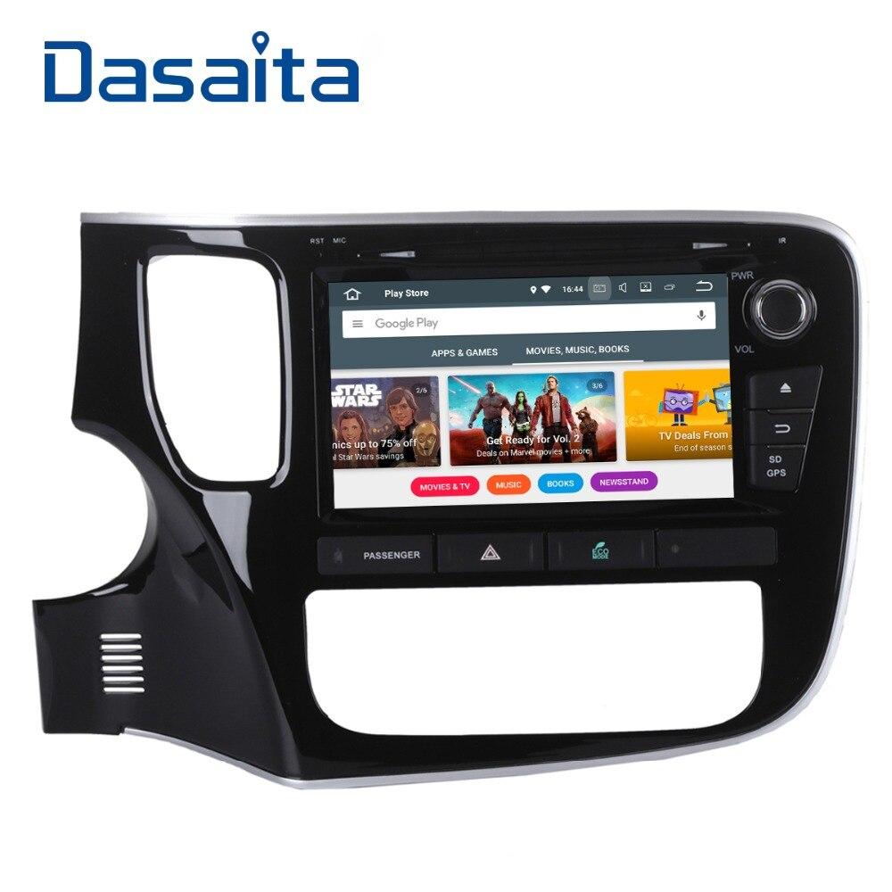 Dasaita 8 Android 8,0 Octa Core автомобильный gps для Mitsubishi Outlander 2014 dvd-плеер стерео Авто радио головное устройство мультимедиа Видео