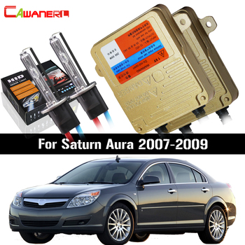 Cawanerl 55W No Error HID Xenon Kit AC Ballast Lamp 3000K 4300K 6000K 8000K For Saturn Aura 2007-2009 Car Headlight Low Beam