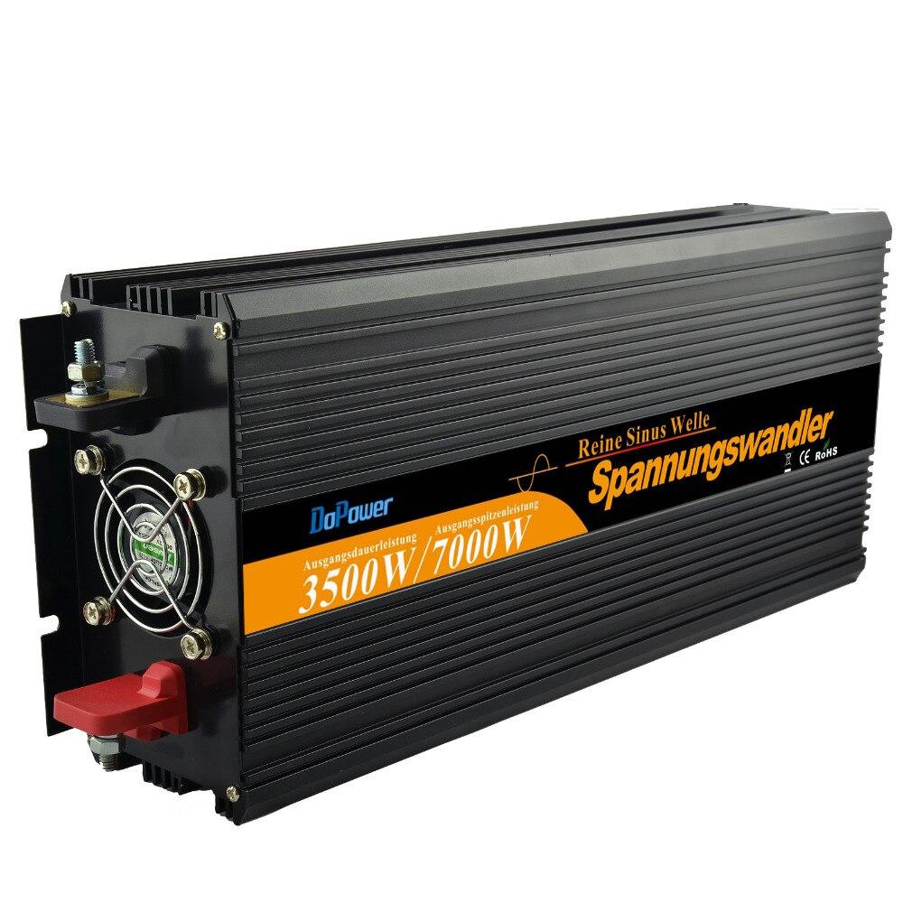цена на Top quality 3500W (7000Wpeak) inverter DC 12V to AC 220V 230 240V pure sine wave power supply for home