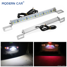 MODERN CAR White/Red 30Leds Rear Car LED License Plate Lights Brake Stop Lamp Tail Reverse Light Bar 5730 SMD License Plate Lamp bolts mount license plate decorative главдор gl 109 reflective red and white 4 pcs 20