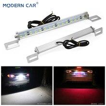 Современный автомобиль Белый/светодио дный Красный 30 LED s задний автомобиль светодио дный светодиодный номерной знак огни стоп-сигнал задний фонарь бар 5730 SMD номерной знак лампа