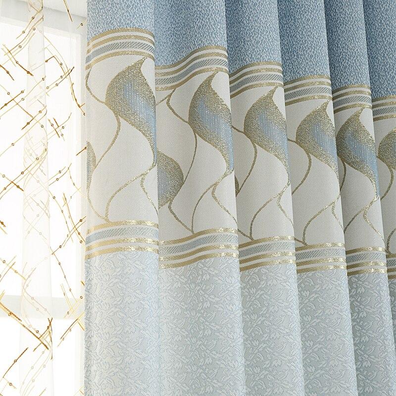 Gold Jacquard Vorhänge-kaufen Billiggold Jacquard Vorh&auml ... Vorhange Wohnzimmer Blau