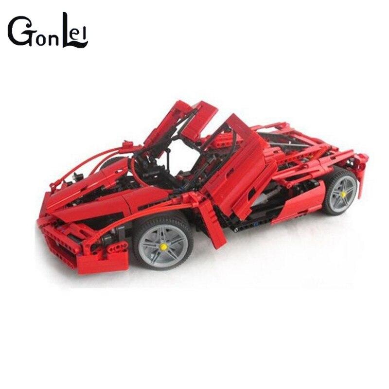 (GonLeI) 9186 Enzo 1:10 Modèle De Voiture Building Block Sets 1359 pcs Éducation Jigsaw DIY Construction Briques brinquedos Cadeau