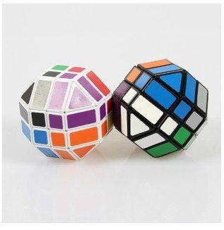 Lanlan 4 x 4 x 4 plástico forma de la bola Cubo mágico Puzzle blanco educativos Twisty Cubo de juguete para niños envío gratis