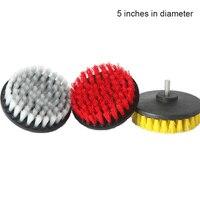 3 unids/set cepillo de taladro eléctrico de cerda para limpieza de la cabeza para azulejo del coche Grout alfombra de baño LXY9 JY04