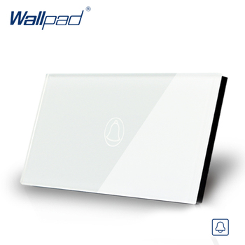 Wallpad US/AU Standard 118*72mm Touch Switch AC 110~250V LED Indicator Doorbell Wall Switch 110-250V coswall uk standard switched wall socket 3 usb charger port for mobile output 5v 3000ma on off led indicator switch ac 110 250v