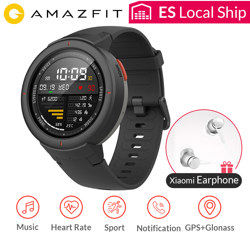 AMAZFIT Verge GPS Smart Watch IP68 Waterproof 1.3 AMOLED Screen Answer Calls Heart Rate Smartwatch Multi Sports Global Version