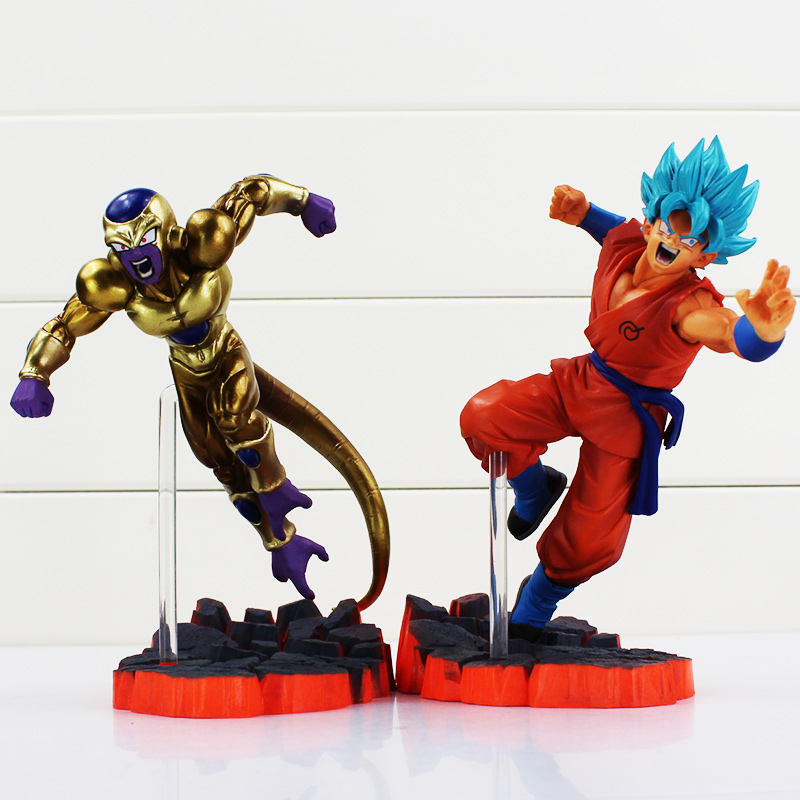 Anime Dragon Ball Figures Toys 15cm Dragon Ball Z Super Saiyan Goku Freeza Battle Ver PVC Action Figure Collectible Model Toy dragon ball z son goku vs broly super saiyan pvc action figures dragon ball z anime collectible model toy set dbz