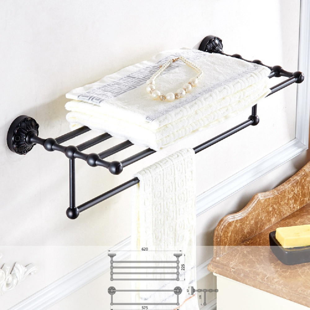 Auswind solid brass towel rack with towel bar bathroom - Bathroom wall cabinet with towel bar ...