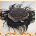 Бесплатная Доставка система волос база швейцарский шнурок и вокруг НПУ прямая волна Индийские волосы Натуральных волос мужские парики парик