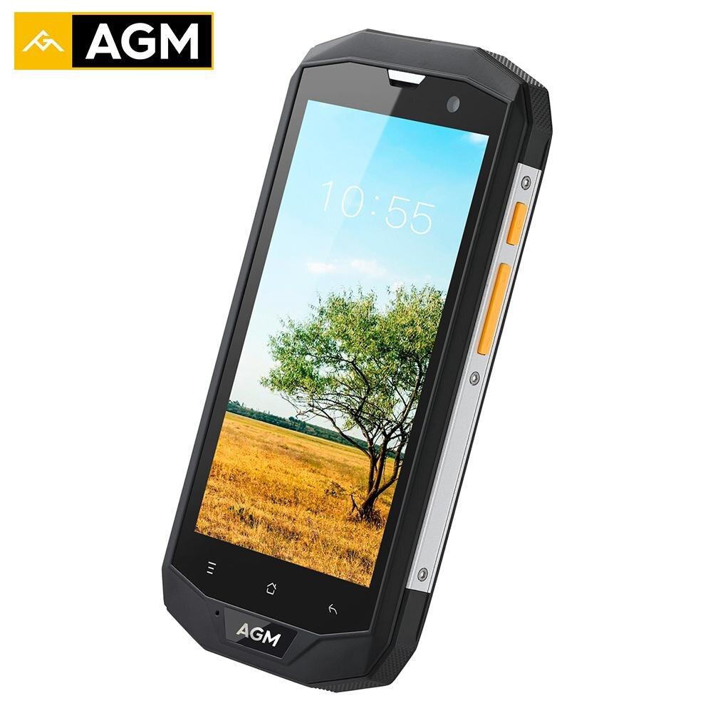 AGM A8 IP68 Водонепроницаемый смартфон 5,0 Высокое разрешение 3 ГБ Оперативная память 32 ГБ Встроенная память Qualcomm MSM8916 Quad 13.0MP 4050 мАч NFC OTG телефона