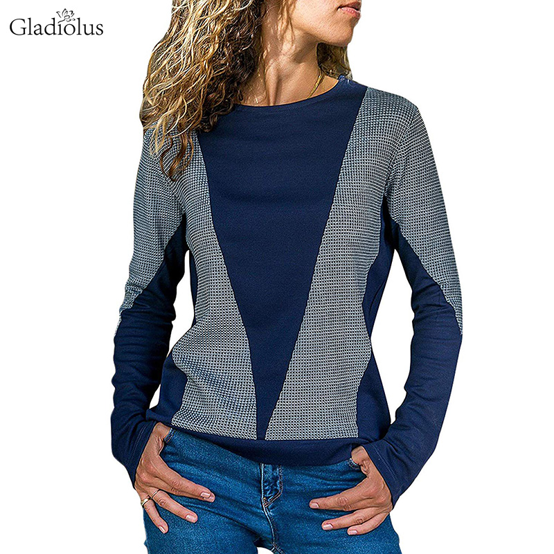 Gladiolus 2018 Autumn Winter Sweatshirt Women hoodie Long Sleeve O Neck Patchwork Loose Casual Pullover Sweatshirts Tracksuit-in Hoodies & Sweatshirts from Women's Clothing on AliExpress - 11.11_Double 11_Singles' Day 1
