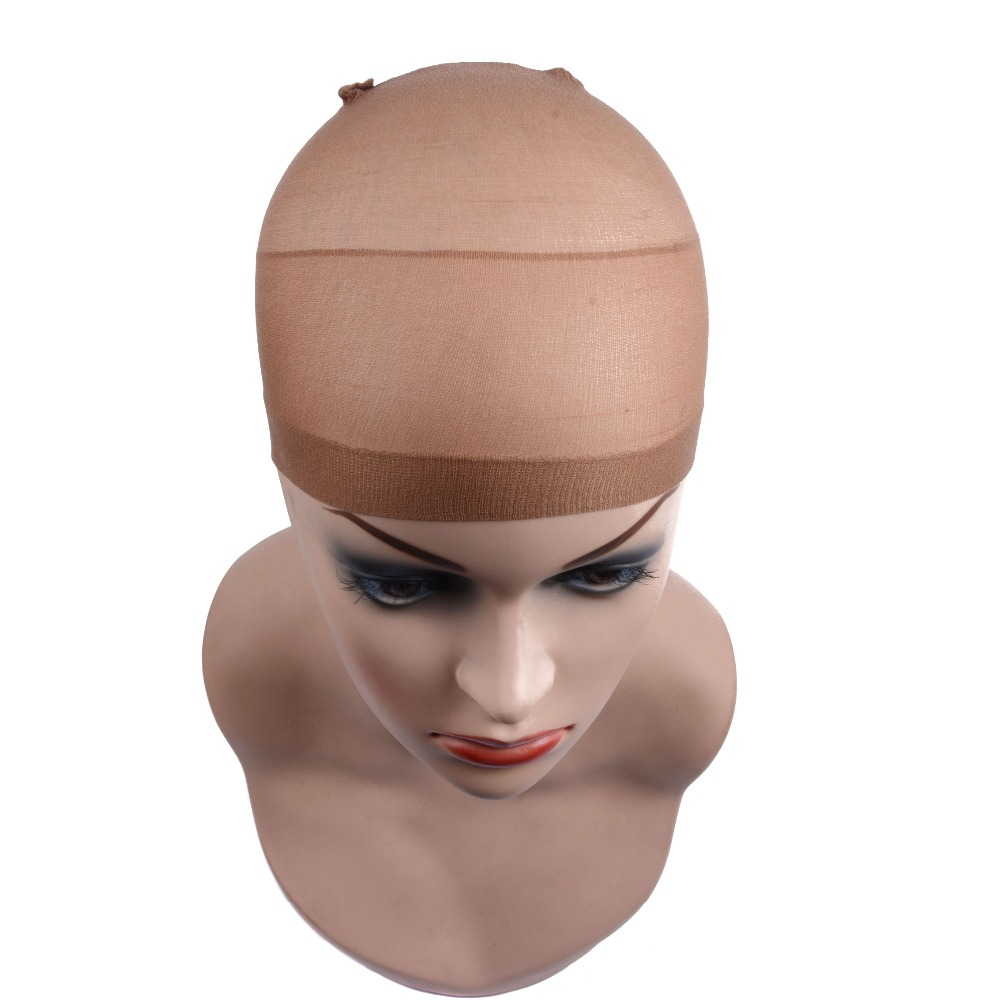 2 Pieces/Pack Wig Cap Hair net for Weave Hairnets Wig Nets Stretch Mesh Wig Cap for Making Wigs Free Size 2