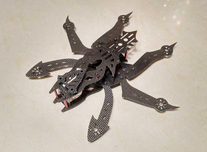 DIY mini drone Alien hexacopter spider 290 pure carbon fiber frame unassembled Handmade limited production alien mini r