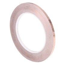0.6CM*30M Professional Electronics Adhesive Conductive Copper Foil Tape Roll EMI Shielding Guitar Accessories