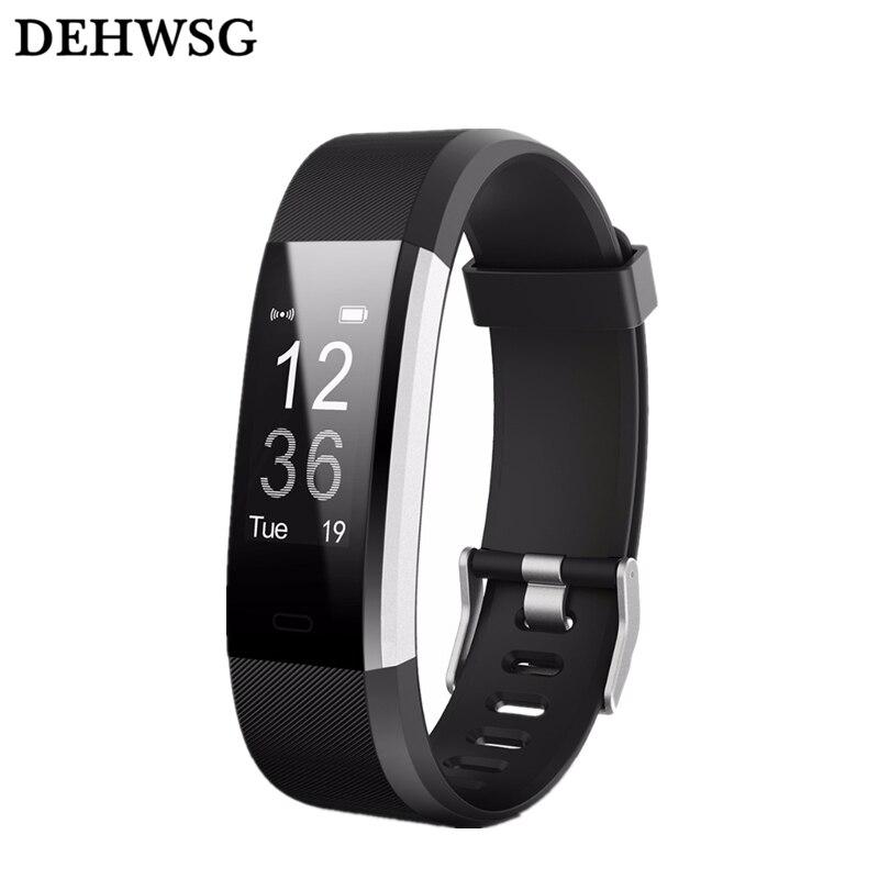Nouveau ID115HR PLUS Bluetooth intelligente bracelet sport de fréquence cardiaque smart bande Fitness Tracker montre smart watch Pour IOS Android pk Fit peu