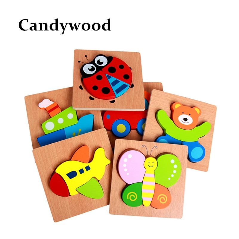 Barn 3d pussel Högkvalitativ bök Trä pedagogiska leksaker för barn En pussel för barn träleksaker