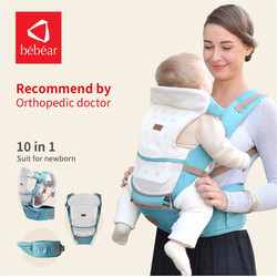 Bebear Baby Carrier GS01 3-30 Months 10 in 1 Infant Comfortable Sling Backpack Hip Seat Baby Wrap Carrier Ergonomic Baby Belt
