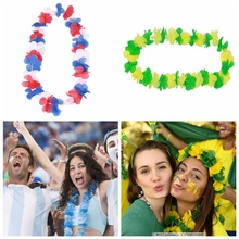 New 30 Pairs of Flowers Fans National Flag Color Garland  Passion Cheerleading party Feast