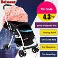Coche de bebé plegable marca Beimens con paraguas y ligero de 4 ~ 5 kilogramos en varios colores, coche pequeño, coche para niño, cochecito de bebé de dos vías con amortiguadores