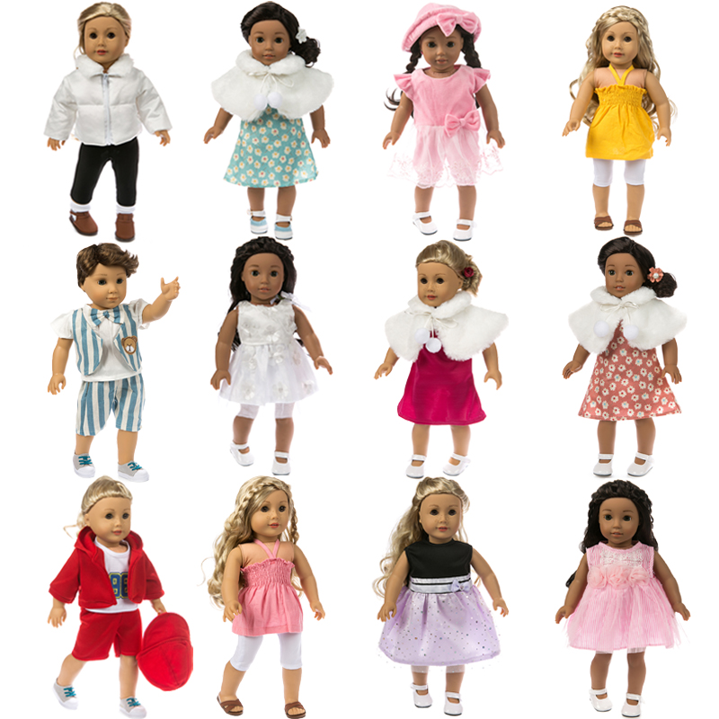 15 Colors American Girl Doll Clothes Baby Born Clothes For Dolls Doll Accessories Fashion Doll Dress Children Best Gift princess dress for 18 inches american girl doll children bjd baby born dolls handmade accessories toy christmas birthday gift