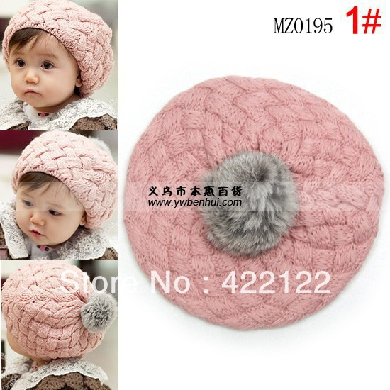 Winter Keep Warm Knitted Hats For Boy/girl/kits Hats,infants Caps Beanine Chilldren-Apple Baby Beret Mz0195-2pcs