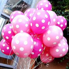 20pcs/Lot Latex Balloons 12 Inch Polka Dot Wedding Decoration Supplies Minnie Mouse Party Ballons Multicolor