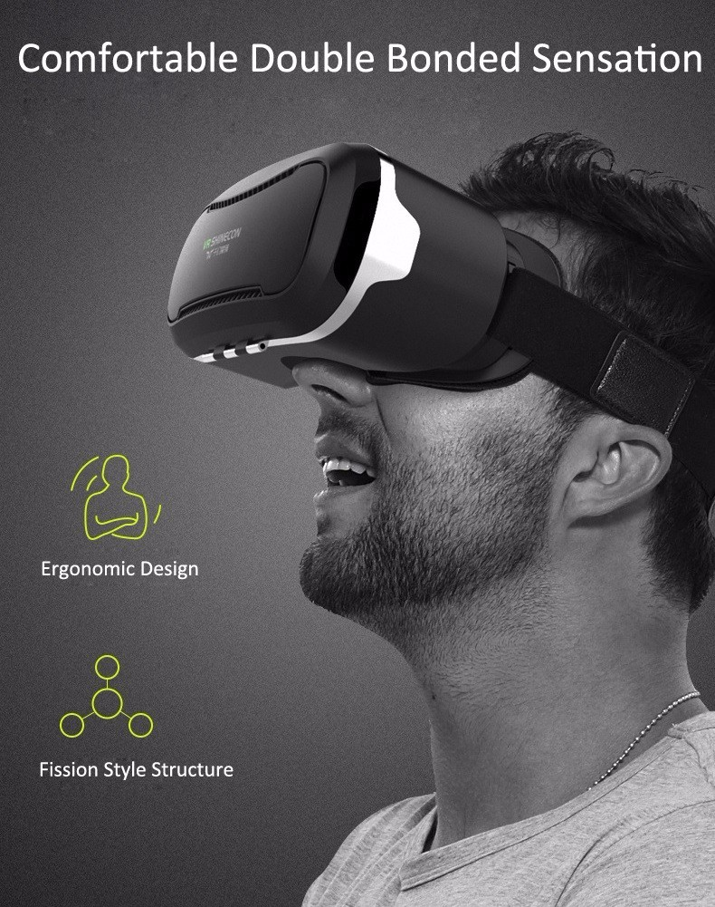 VR Shinecon 2.0 Google Cardboard VR BOX 2.0 Virtual Reality goggles VR 3D Glasses Immersive for 4.5-6.0 inch smartphones 29