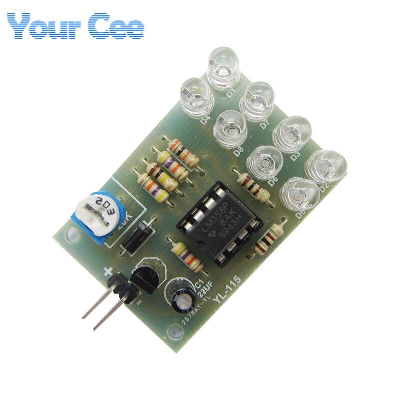 5 pcs LM358 Breathe Light Lamp Flicker 8pcs 5MM Blue LED DIY Electronic Kit Suite Electronica Components Supplies