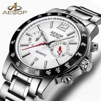 AESOP Man Fashion Watch Men Sapphire Crystal Men's Wrist Wristwatch Stainless Steel Watches Male Clock Men Relogio Masculino