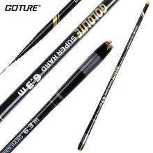 Goture GOLDLITE Fishing Rod 3.6-7.2M 2/Eight Energy Arduous Carbon Fiber Telescopic Fishing Rods for Stream Carp Fishing, 1 Rod+Three Ideas