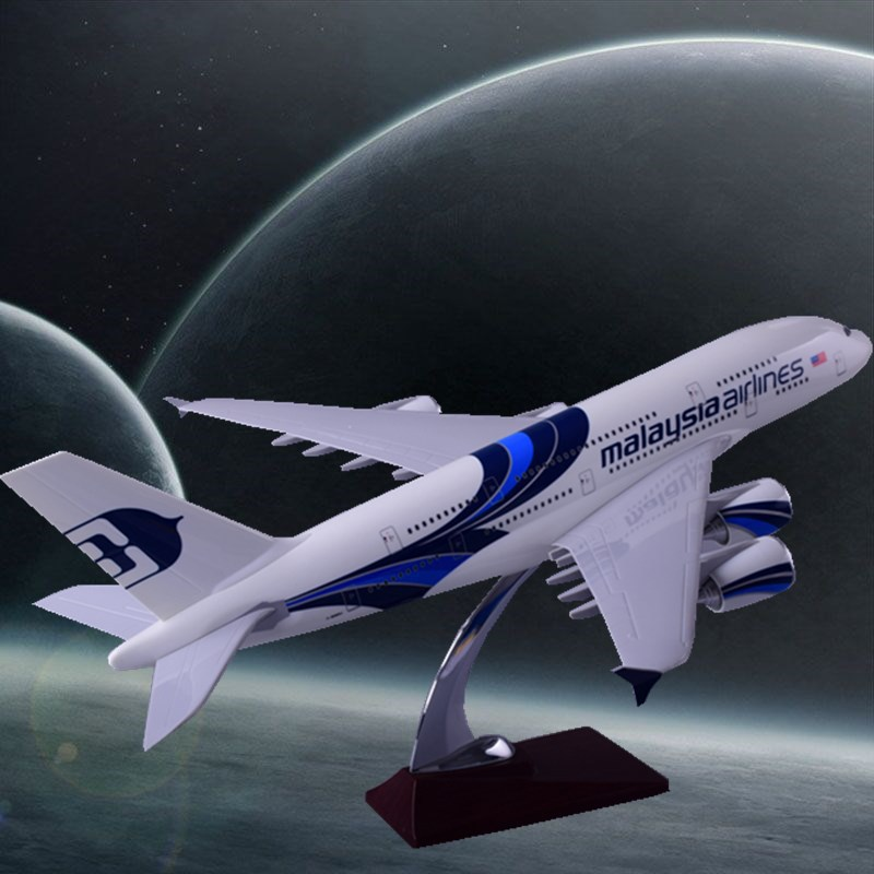 45cm Airbus A380 Malaysia Airlines Airplane Model Resin Malaysia Airways Airbus Model Cr ...