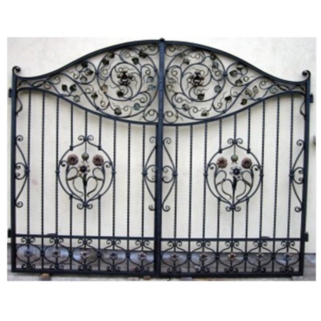 Decorative wrought iron gates design india