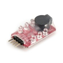 Niedrigen Lipo Batterie LED Spannung Meter Tester Summer Alarm Anzeige Einzelnen Lautsprecher für 2s 7,4 v/3 s 11,1 v lipo Batterie