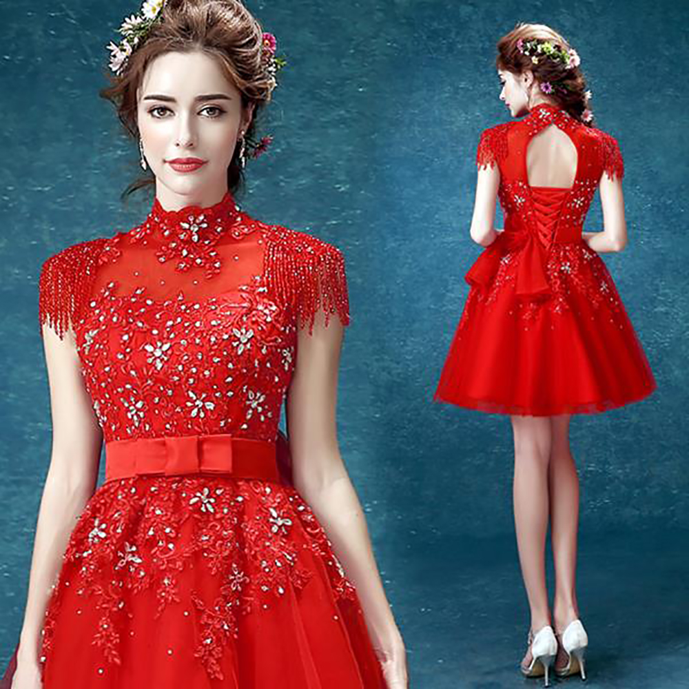 Perfect Cocktail Dresses In Red Photos - All Wedding Dresses ...