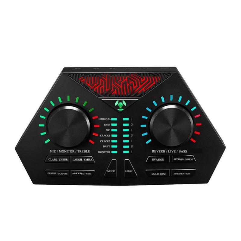 ALLOYSEED Audio Externe USB Casque Chant Microphone Vivre vivant de Son Émission Carte pour Ordinateur Portable PC
