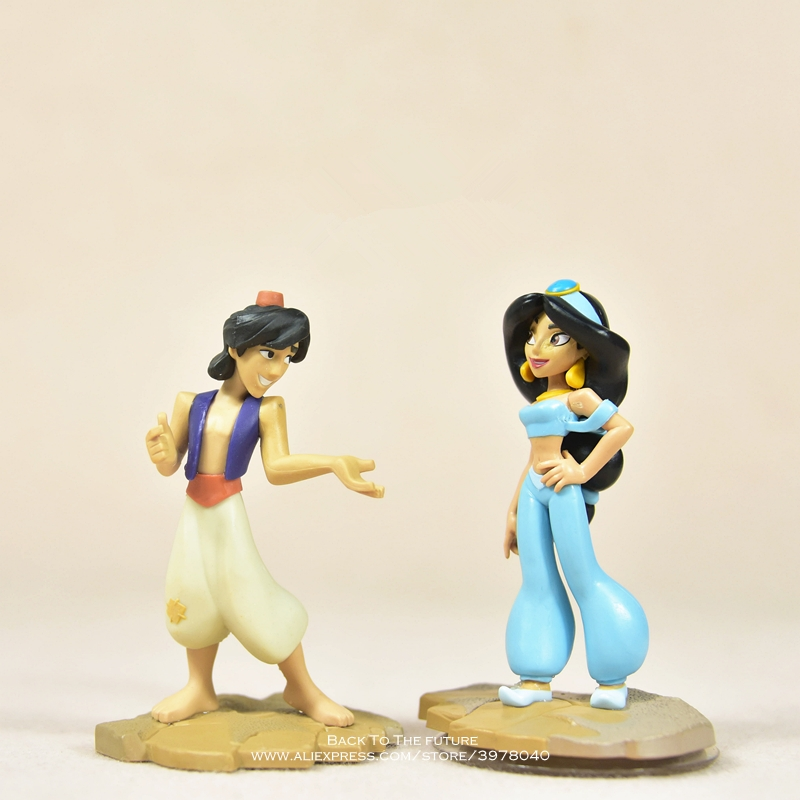 Disney Aladdin Jasmine Princess 9cm Action Figure Anime Mini Decoration PVC Collection Figurine Toys Model For Children Gift