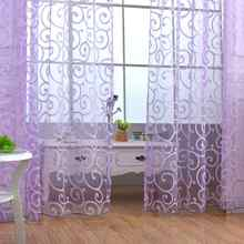 200x100cm Europe Romantic Style Flowers Tulle Curtains Modern Door Window Curtains Tulle Fabrics For Bedroom Curtains