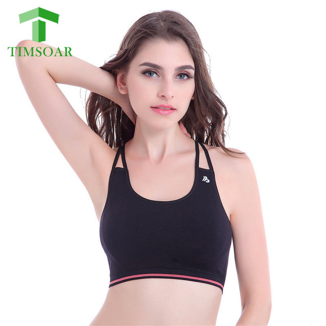efdce719ce Timsoar Seamless Quick Dry Women Sports Bra Fitness Sexy Yoga Bra Double  Strip Workout Push Up Wireless Comfort Running Bra