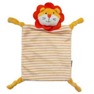 Image 2 - Noworodek maluch dzieci pluszowy ręcznik zabawka kot kreskówkowy królik grzechotka zwierzątko zabawka dziecko śpiące noworodka wypchane lalki komfort ręcznik